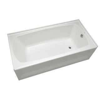 "Mirabelle MIRBDS6030L Bradenton 60"" x 30"" Three-Wall Alcove Soaking Tub with Lef"