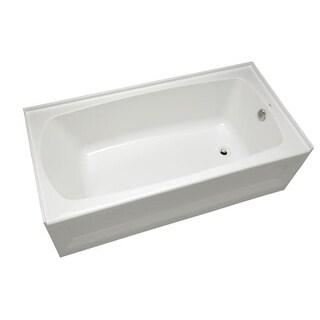 "Mirabelle MIRBDS6030L Bradenton 60"" x 30"" Three-Wall Alcove Soaking Tub with Lef"