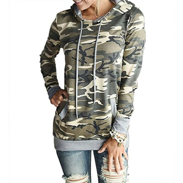 6a8d3d13a Women's Camouflage Print Pullover Hooded Sweatshirt