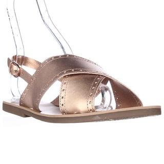 Lucky Brand Birchess Flat Slingback Sandals - Copper