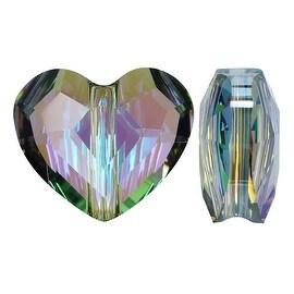 Swarovski Crystal, 5741 Love Heart Bead 12mm, 2 Pieces, Crystal Paradise Shine