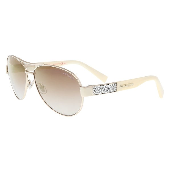 57226c3ffaadf Shop Jimmy Choo BABA S 09D4 Light Gold Aviator Sunglasses - 59-13 ...
