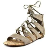 Sam Edelman Womens katya Suede Open Toe Casual Gladiator, bistro suede, Size 9.5