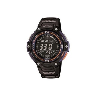 """Casio Twin Sensor Black Glass Smart Watch Smart Watch"""