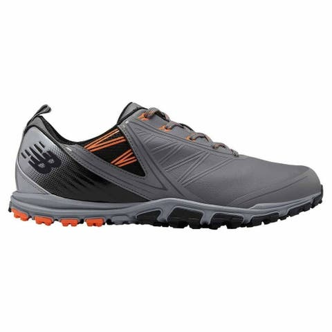 Men's New Balance Minimus SL Grey/Orange Golf Shoes NBG1006GRO-W (WIDE)