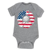 Usa Daisy Flag Fill - Infant One Piece