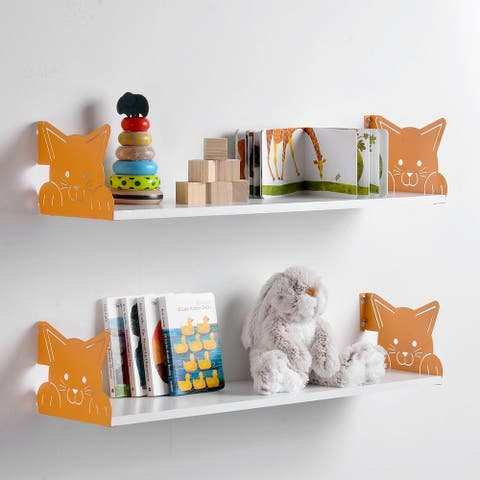 Funimal Floating Shelf 2-pk with Cat Bracket