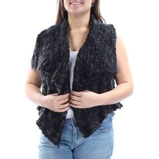 KENSIE $99 Womens New 1421 Black Open Cardigan Sleeveless Casual Sweater XL B+B