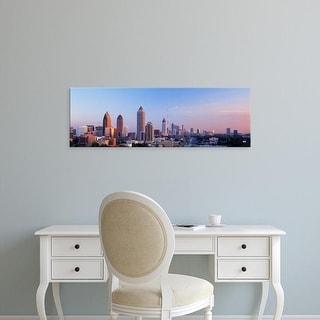 Easy Art Prints Panoramic Images's 'Twilight, Skyline, Atlanta, Georgia, USA' Premium Canvas Art