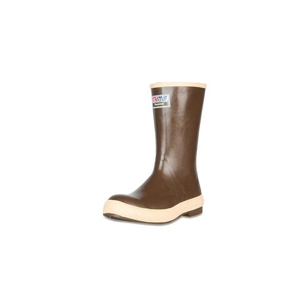 "Xtratuf Men's Legacy 12"" Plain Toe Fishing Boots w/ Chevron Outsole - Size 14"