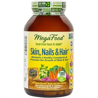 MegaFood - Skin, Nails & Hair, Promote Clear & Radiant Skin Plus Healthy Hair, 180 Tablets