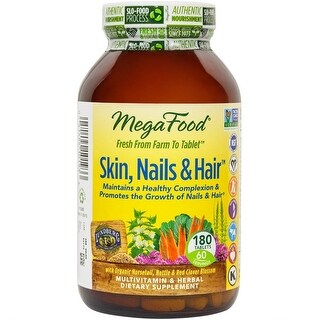 MegaFood Skin, Nails & Hair - 180 Tablets Healthy Complexion Promotes the Growth of Nails & Hair