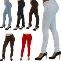 Women's Sexy Casual Solid Color High Waist Elastic Skinny Pencil Cigarette Pants
