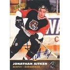 Jonathan Aitken Boston Bruins 1996 Score Board All Sport PPF Autographed Card Rookie Card This item comes with a ce