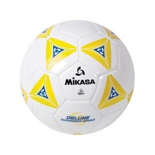 Mikasa Soccer Ball, Size 5, White/Yellow