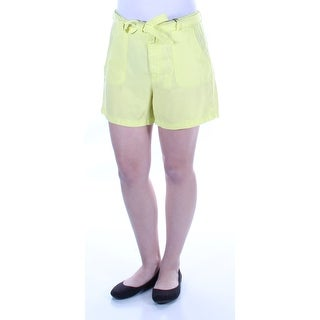 KIIND OF $59 Womens New 7578 Yellow Pocketed Tie Casual Short 6 B+B