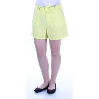 Womens Yellow Short Size 6