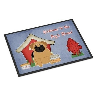 Carolines Treasures BB2761MAT Dog House Collection Pug Brown Indoor or Outdoor Mat 18 x 0.25 x 27 in.
