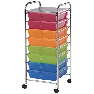 "Storage Cart W/8 Drawers-16.5""X39.5""X14.5"" Multicolor"