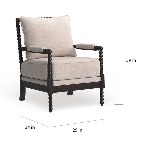 Furniture of America Digg Beige Fabric Accent Chair