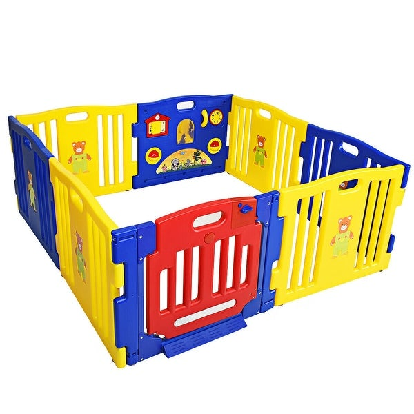 Gymax 8 Panel Baby Playpen Play Yard Safety Play Center