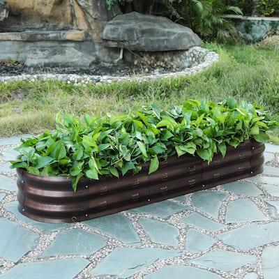 Metal Oval Garden Bed