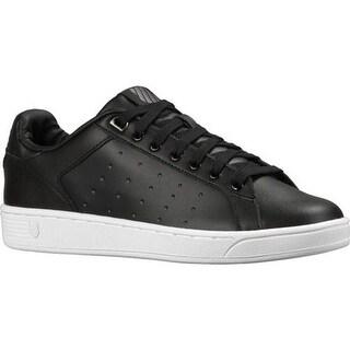K-Swiss Women's Clean Court CMF Sneaker Black/White
