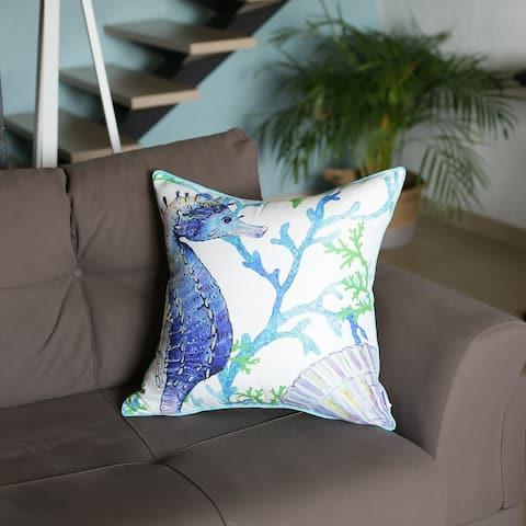 Porch & Den Santa Monica Seahorse Throw Pillow Cover