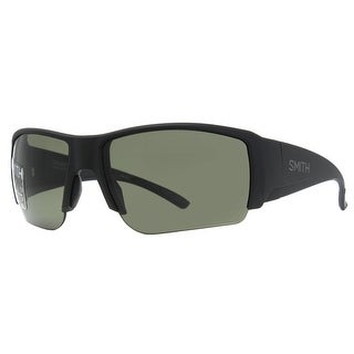 SMITH OPTICS Sport Captain's Choice Men's DL5 Matte Black Polarized Gray Green Sunglasses - 66mm-16mm-120mm