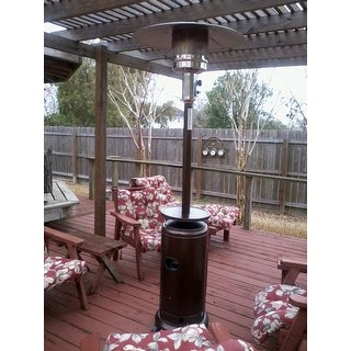 AZ Patio Heaters 87 Inch Tall Patio Heater With Hammered Bronze Finish
