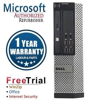 Refurbished Dell OptiPlex 7010 USFF Intel Core I3 3220 3.3G 4G DDR3 500G DVD WIN 10 Pro 64 Bits 1 Year Warranty - Black