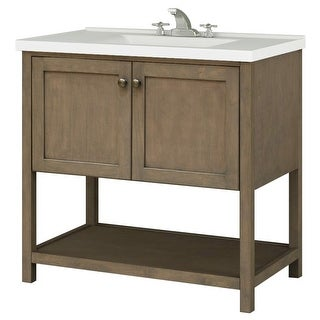 """Sunny Wood AN3621 Aiden 36"""" Hardwood Vanity Cabinet Only"""