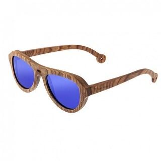 Spectrum Marzo Unisex Wood Sunglasses - 100% UVA/UVB Prorection - Polarized/Mirrored/Gradient Lens - Multi