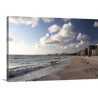 """Beach on Gulf of Mexico, Marco Island, Florida"" Canvas Wall Art"