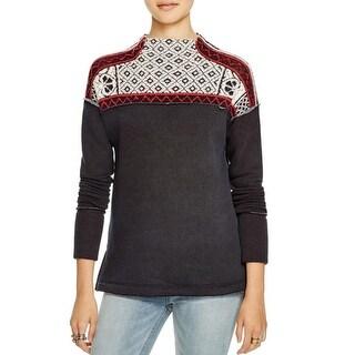 Free People Womens Turtleneck Sweater Pattern Turtleneck