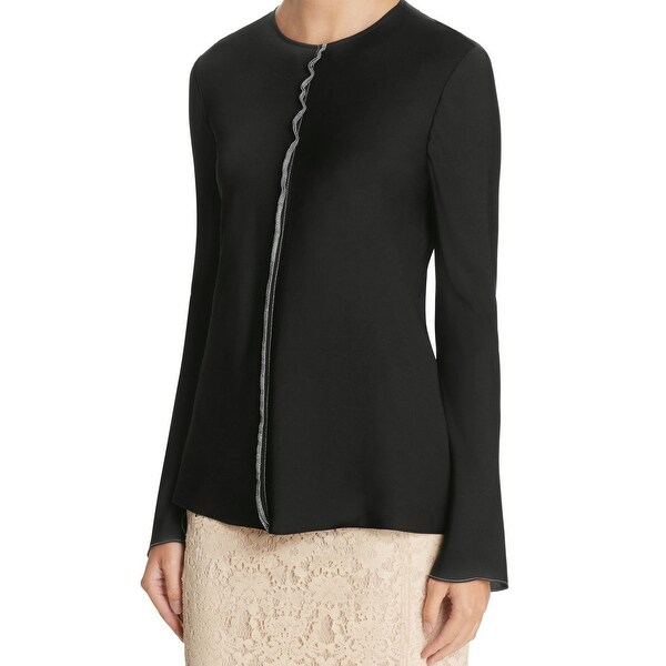 220e04b5faf44a Shop DKNY NEW Black White Womens Size 2 Stretch Seamed Back-Zip ...