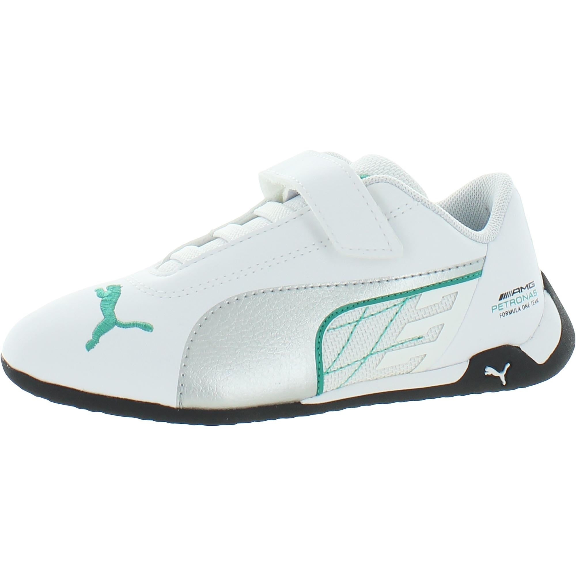 Puma Boys Mercedes-AMG Petronas R-Cat V PS Motorsport Shoes Faux Leather Fitness - Puma White/Puma Silver