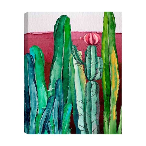 American Art Decor Watercolor Cactus Outdoor Canvas Art Decor Print