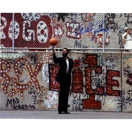 Walt Frazier in Playground With Graffiti Horizontal 16x20 Photo