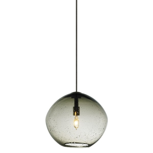 Tech Lighting 700fjislak Mini Isla 1 Light Freejack Pendant With Smoke Seeded Gl N A