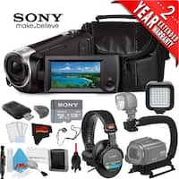 Sony HDR-CX405 Hd Camcorder Black + Sony 128Gb Microsdxc Memory Card Class 10 + Sony Mdr-7506 Headphone Bundle 3 Year Warranty