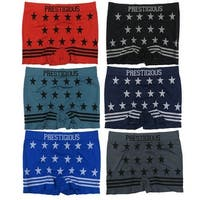 Men's 6-Pack Seamless Stars & Stripes Print Boxer Briefs