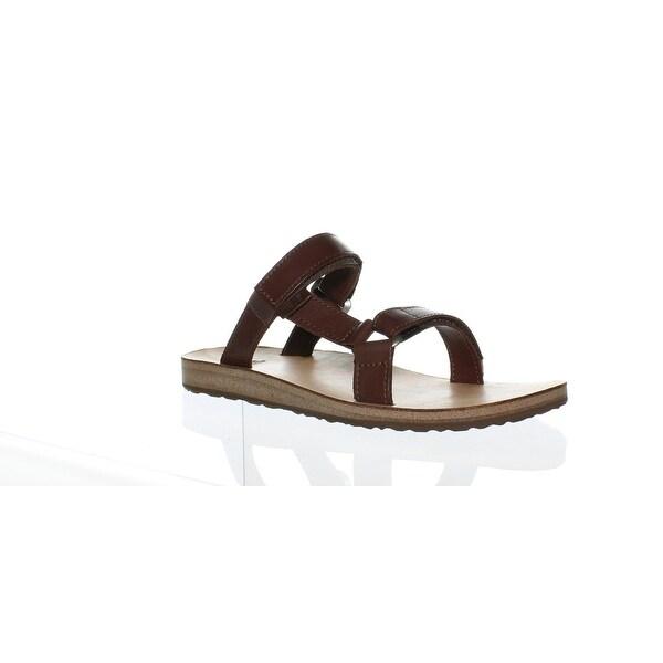 710911d9c Shop Teva Womens Universal Slide Leather Brown Slides Size 9 - Free ...
