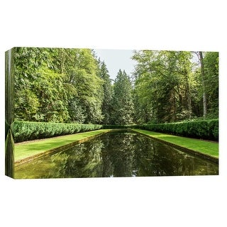 """PTM Images 9-102215  PTM Canvas Collection 8"""" x 10"""" - """"Water Path"""" Giclee Forests Art Print on Canvas"""