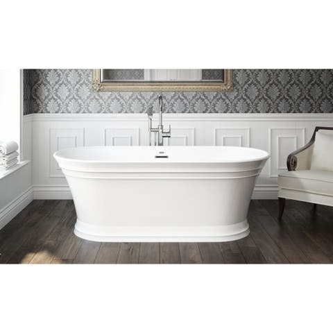 Under 60 Inches Clear All Jacuzzi Sef5931bc Serafina 59 Soaking Bathtub For Freestanding Installation
