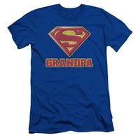 Superman Super Grandpa Mens Slim Fit Shirt