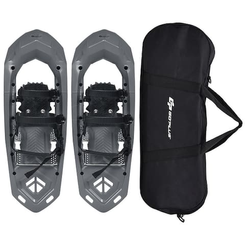 Goplus 25inch Lightweight All Terrain Snowshoes Men Women Bag Anti