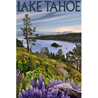 Lake Tahoe - Emerald Bay Scene - Lantern Press Artwork (Playing Card Deck - 52 Card Poker Size with Jokers)