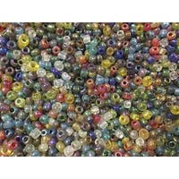 School Specialty Glass E Beads, Rainbow Mix, 1 Pound