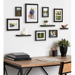 Link to Kate and Laurel Bordeaux Gallery Wall Frame And Shelf Kit Similar Items in Decorative Accessories